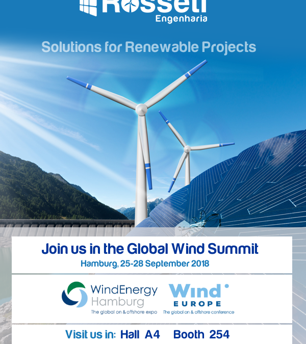 Join us in the Global Wind Summit, Hamburg, 25-28 September 2018, Visit us in: Hall A4 Booth 254