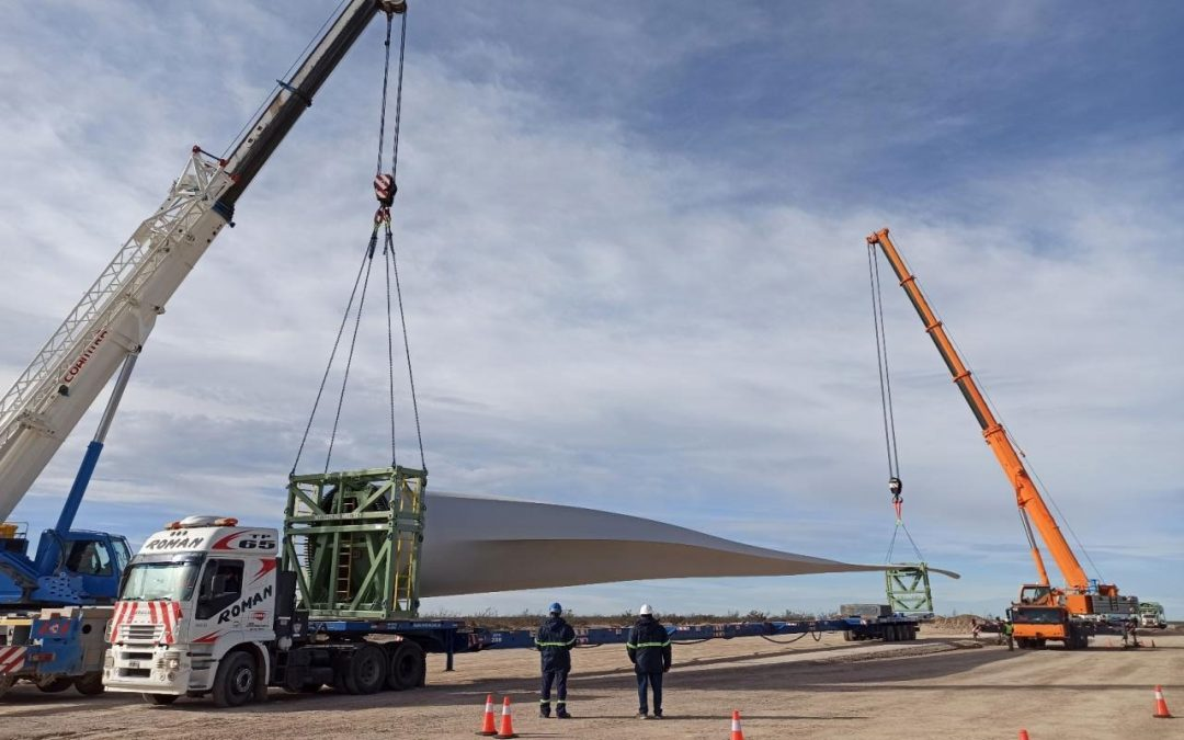 Last major components ready to install at the Chubut Norte Wind Farm