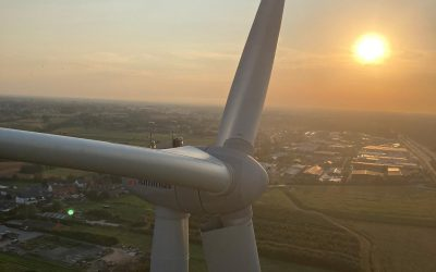 Rosseti completed the installation of three wind turbines in Belgium